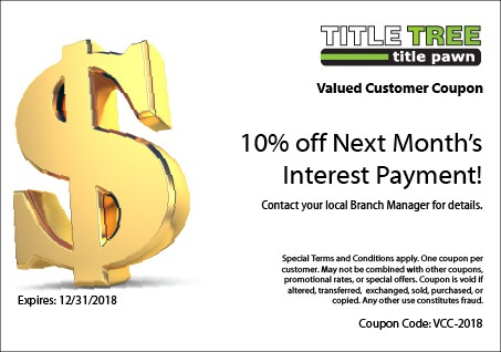 Title Tree Valued Customer Coupon - 2018